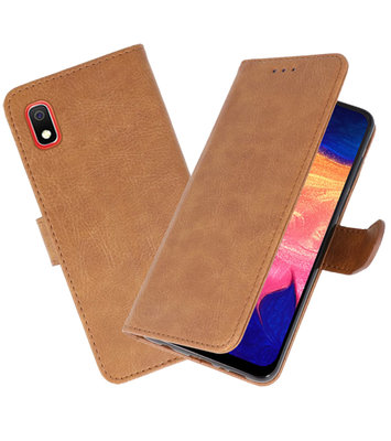Bookstyle Wallet Cases Hoesje voor Samsung Galaxy A10 Bruin