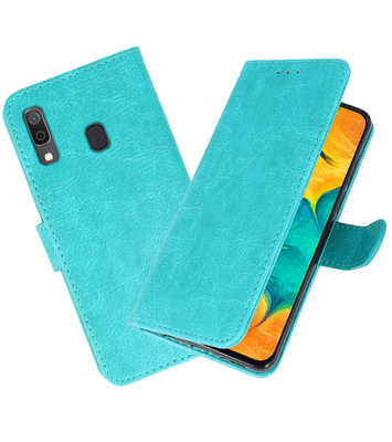 Bookstyle Wallet Cases Hoesje voor Samsung Galaxy A30 Groen