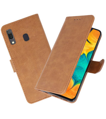 Bookstyle Wallet Cases Hoesje voor Samsung Galaxy A30 Bruin