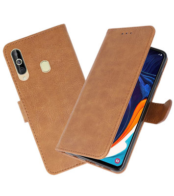 Bookstyle Wallet Cases Hoesje voor Samsung Galaxy A60 Bruin
