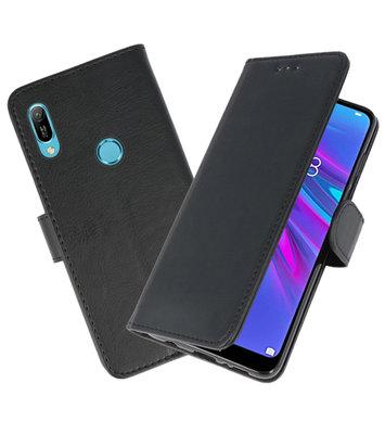 Bookstyle Wallet Cases Hoesje voor Huawei Y6 2019 Zwart