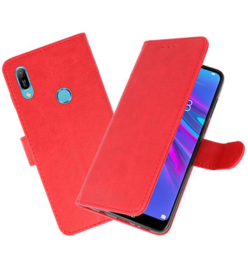 Bookstyle Wallet Cases Hoesje voor Huawei Y6 2019 Rood