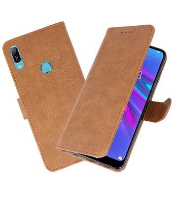 Bookstyle Wallet Cases Hoesje voor Huawei Y6 2019 Bruin