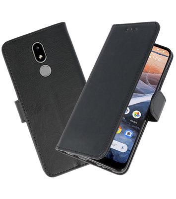 Bookstyle Wallet Cases Hoesje voor Nokia 3.2 Zwart