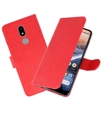 Bookstyle Wallet Cases Hoesje voor Nokia 3.2 Rood