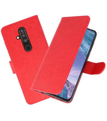 Bookstyle Wallet Cases Hoesje voor Nokia X71 Rood