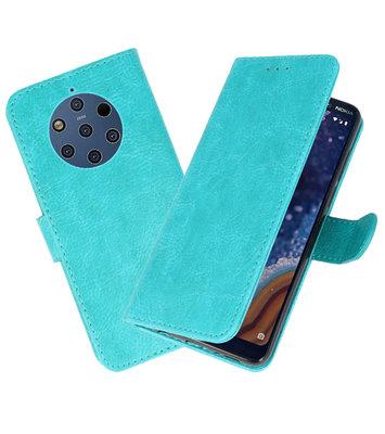 Bookstyle Wallet Cases Hoesje voor Nokia 9 PureView Groen