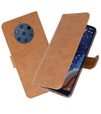 Bookstyle Wallet Cases Hoesje voor Nokia 9 PureView Bruin