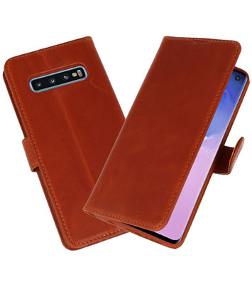 Rico Vitello Bruin Echt Leder Hoesje voor Samsung Galaxy 10