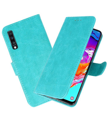 Bookstyle Wallet Cases Hoesje voor Samsung Galaxy A70 Groen