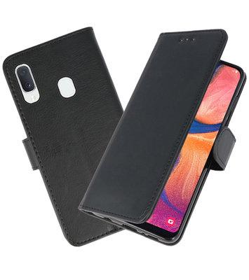 Bookstyle Wallet Cases Hoesje voor Samsung Galaxy A20e Zwart