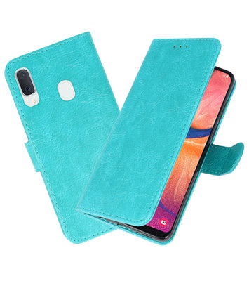 Bookstyle Wallet Cases Hoesje voor Samsung Galaxy A20e Groen