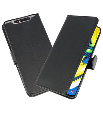 Bookstyle Wallet Cases Hoesje voor Samsung Galaxy A80 / A90 Zwart