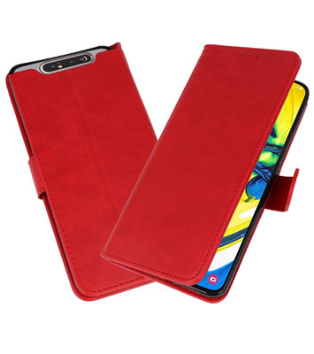 Bookstyle Wallet Cases Hoesje voor Samsung Galaxy A80 / A90 Rood