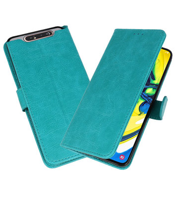 Bookstyle Wallet Cases Hoesje voor Samsung Galaxy A80 / A90 Groen