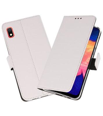 Wallet Cases Hoesje voor Samsung Galaxy A10 Wit