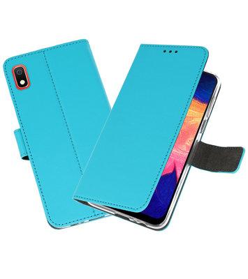 Wallet Cases Hoesje voor Samsung Galaxy A10 Blauw