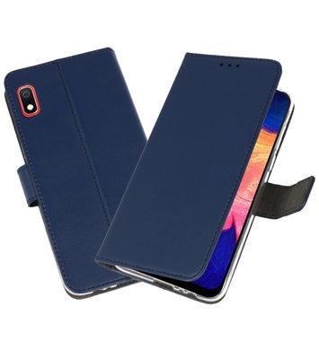 Wallet Cases Hoesje voor Samsung Galaxy A10 Navy