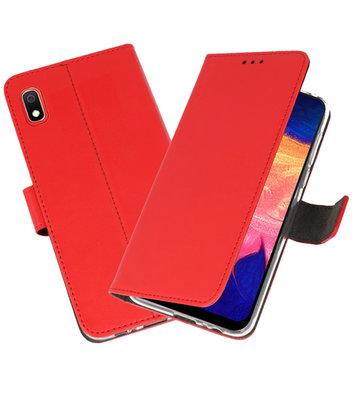 Wallet Cases Hoesje voor Samsung Galaxy A10 Rood
