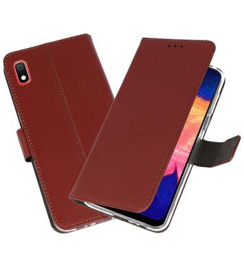 Wallet Cases Hoesje voor Samsung Galaxy A10 Bruin