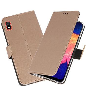Wallet Cases Hoesje voor Samsung Galaxy A10 Goud