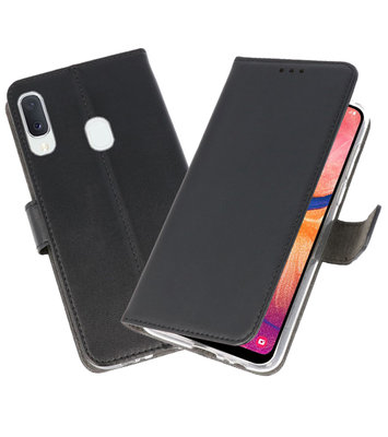 Wallet Cases Hoesje voor Samsung Galaxy A20e Zwart