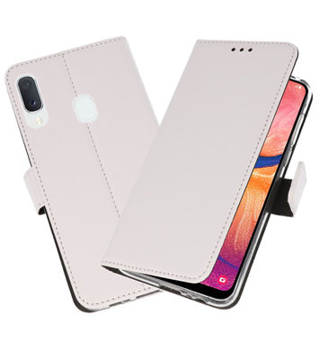Wallet Cases Hoesje voor Samsung Galaxy A20e Wit