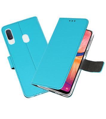 Wallet Cases Hoesje voor Samsung Galaxy A20e Blauw