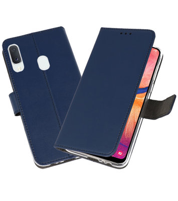 Wallet Cases Hoesje voor Samsung Galaxy A20e Navy