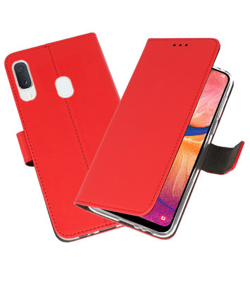 Wallet Cases Hoesje voor Samsung Galaxy A20e Rood