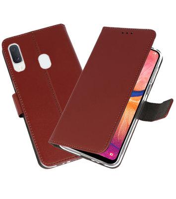 Wallet Cases Hoesje voor Samsung Galaxy A20e Bruin