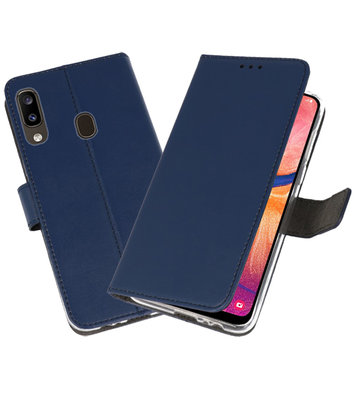 Wallet Cases Hoesje voor Samsung Galaxy A20 Navy