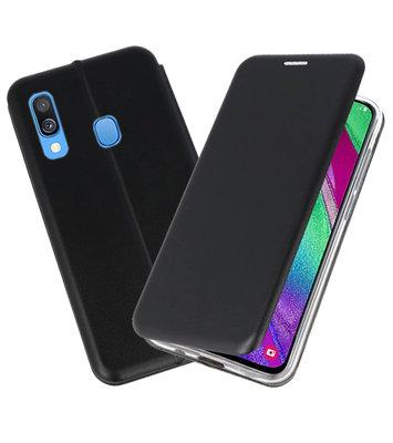 Slim Folio Case voor Samsung Galaxy A40 Zwart