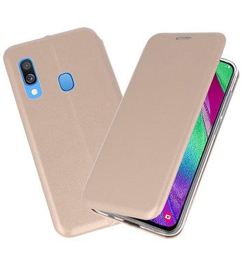 Slim Folio Case voor Samsung Galaxy A40 Goud