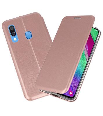 Slim Folio Case voor Samsung Galaxy A40 Roze