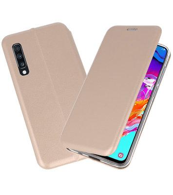 Slim Folio Case voor Samsung Galaxy A70 Goud
