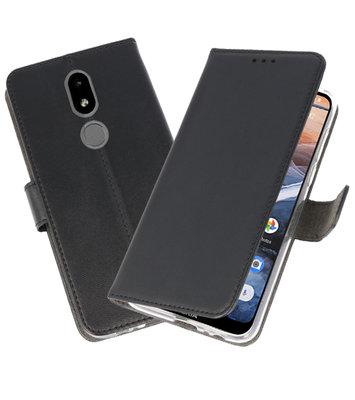 Wallet Cases Hoesje voor Nokia 3.2 Zwart