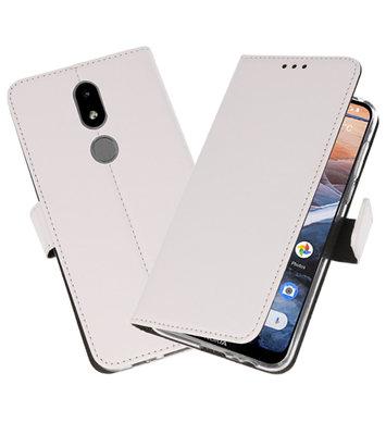 Wallet Cases Hoesje voor Nokia 3.2 Wit