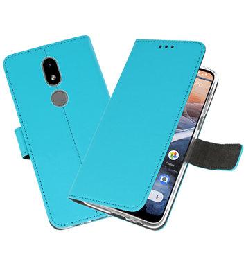 Wallet Cases Hoesje voor Nokia 3.2 Blauw