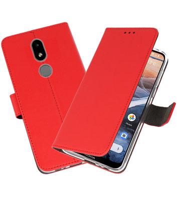 Wallet Cases Hoesje voor Nokia 3.2 Rood
