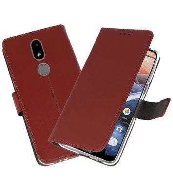Wallet Cases Hoesje voor Nokia 3.2 Bruin