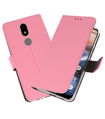 Wallet Cases Hoesje voor Nokia 3.2 Roze