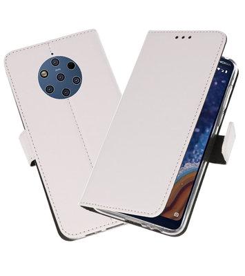 Wallet Cases Hoesje voor Nokia 9 PureView Wit