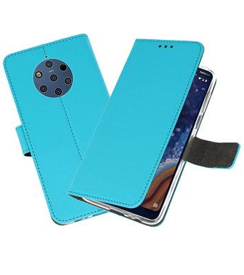 Wallet Cases Hoesje voor Nokia 9 PureView Blauw
