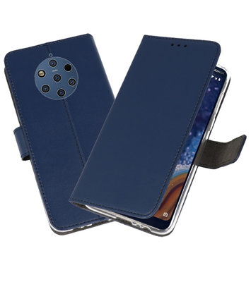 Wallet Cases Hoesje voor Nokia 9 PureView Navy