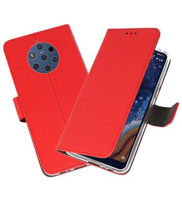 Wallet Cases Hoesje voor Nokia 9 PureView Rood