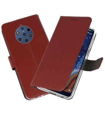 Wallet Cases Hoesje voor Nokia 9 PureView Bruin