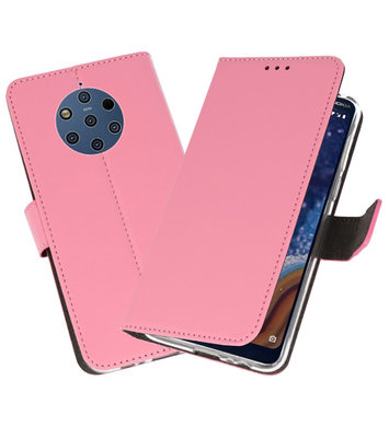 Wallet Cases Hoesje voor Nokia 9 PureView Roze