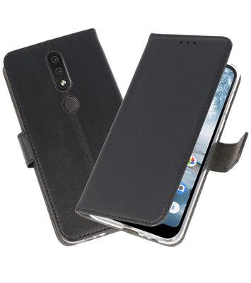 Wallet Cases Hoesje voor Nokia 4.2 Zwart