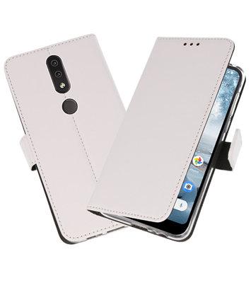 Wallet Cases Hoesje voor Nokia 4.2 Wit